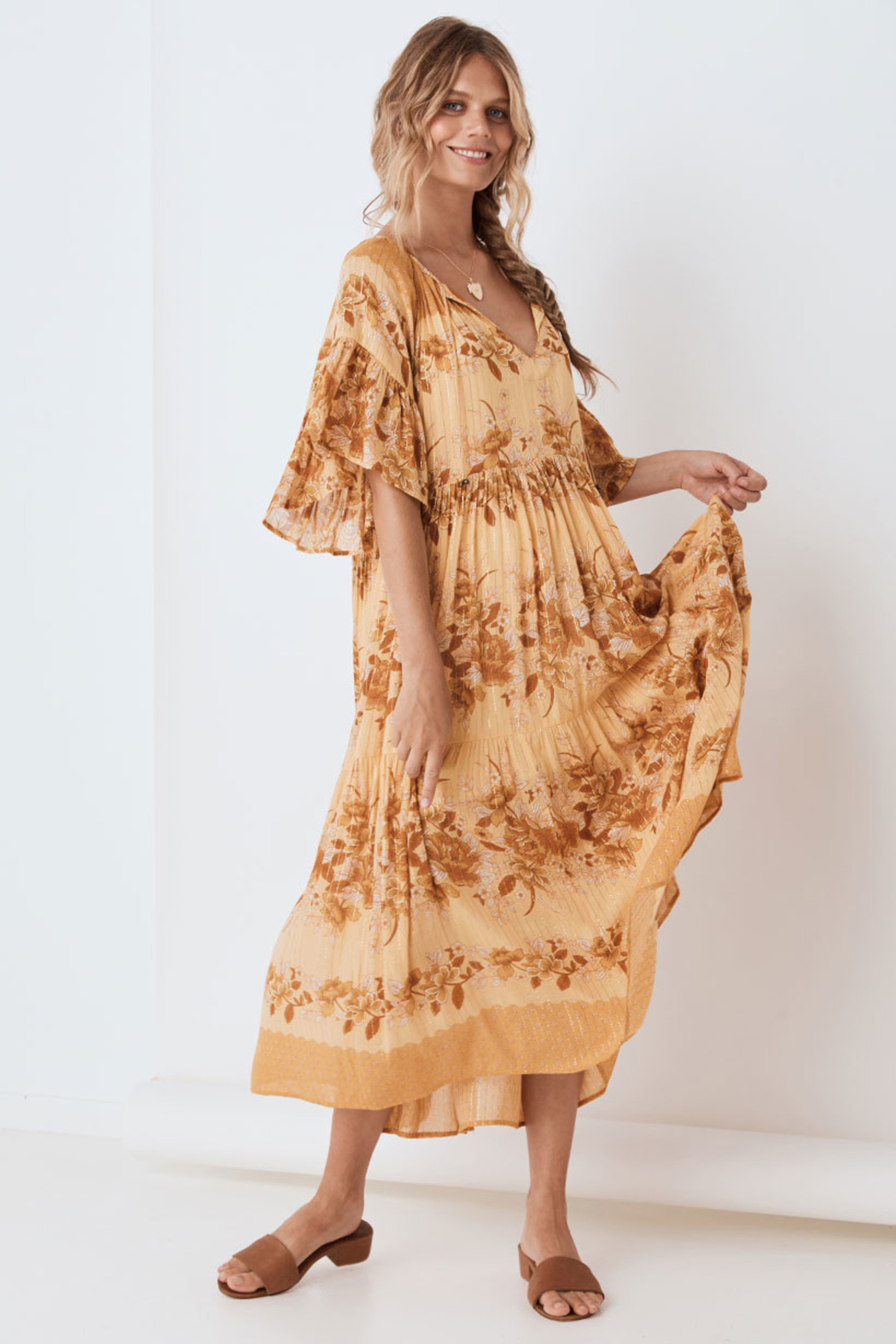 Spell & the Gypsy Collective Coco Lei Mumu in Caramel - Main Image