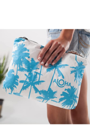 Aloha Collection Coco palms zipper bag - Front full body