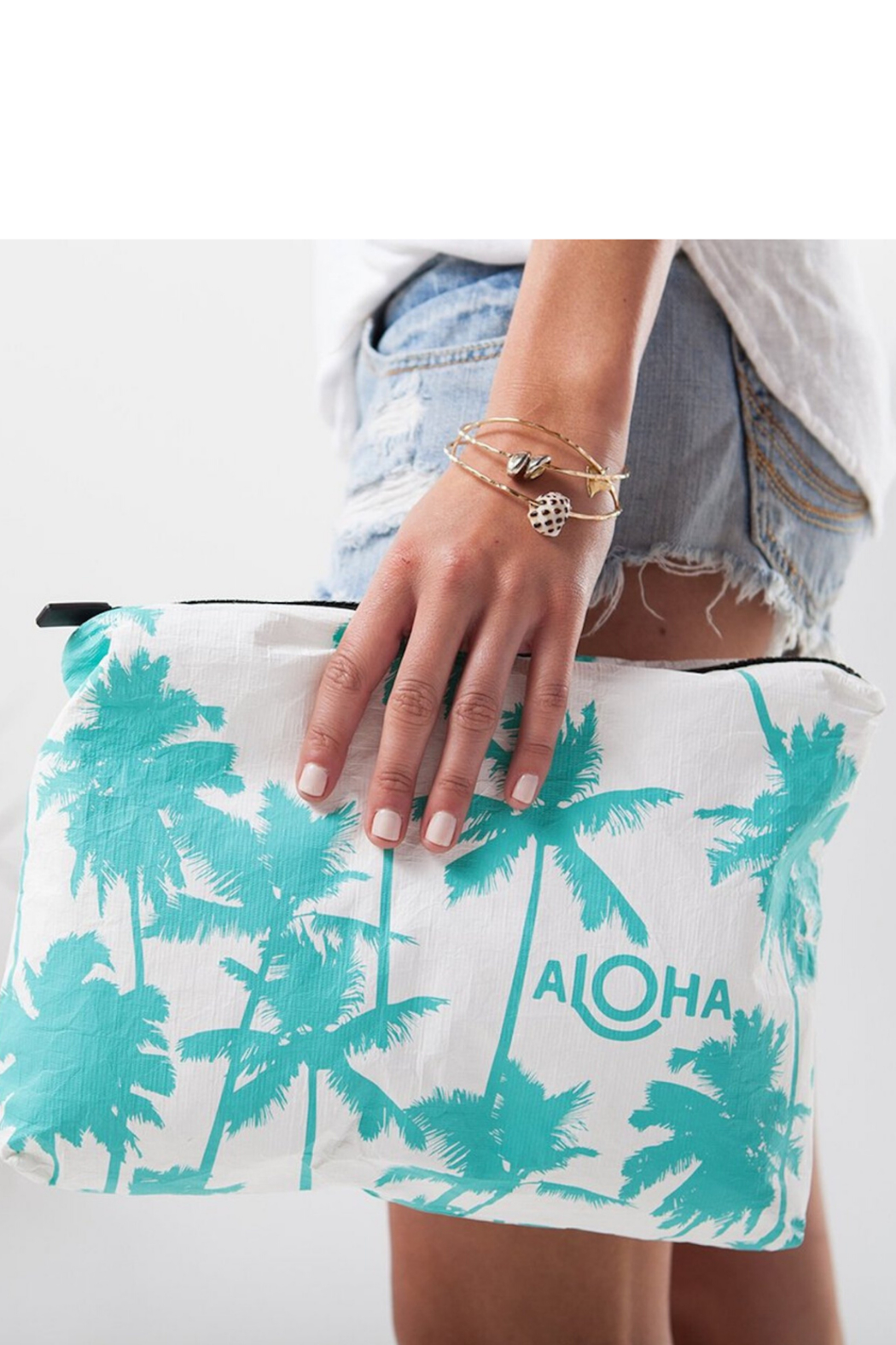 Aloha Collection Coco palms zipper bag - Front Full Image