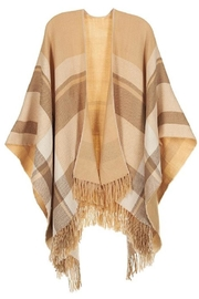 Coco + Carmen Beige Plaid Wrap - Product Mini Image