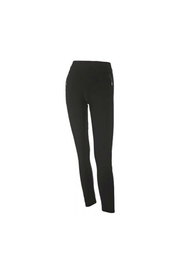 Coco + Carmen Black Zip Leggings - Front cropped