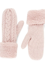 Coco + Carmen Cable Sparkle Mittens - Product Mini Image