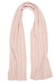 Coco + Carmen Cable Sparkle Scarf - Front cropped