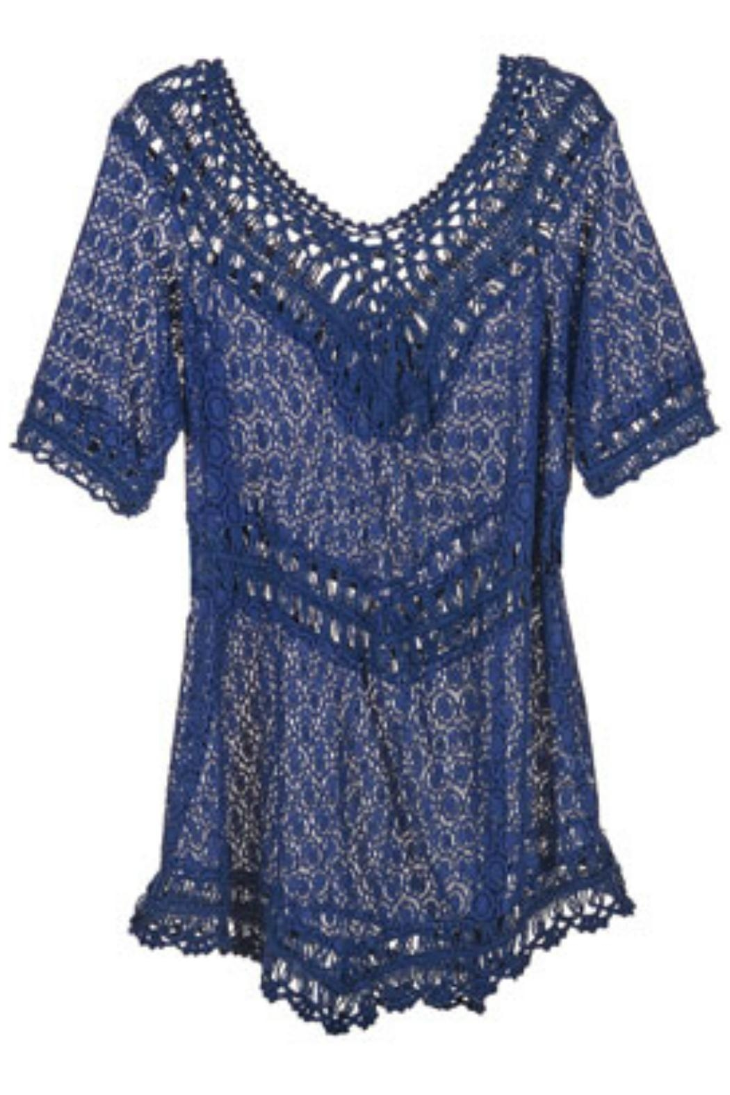 Coco + Carmen Crochet Tunic - Front Cropped Image