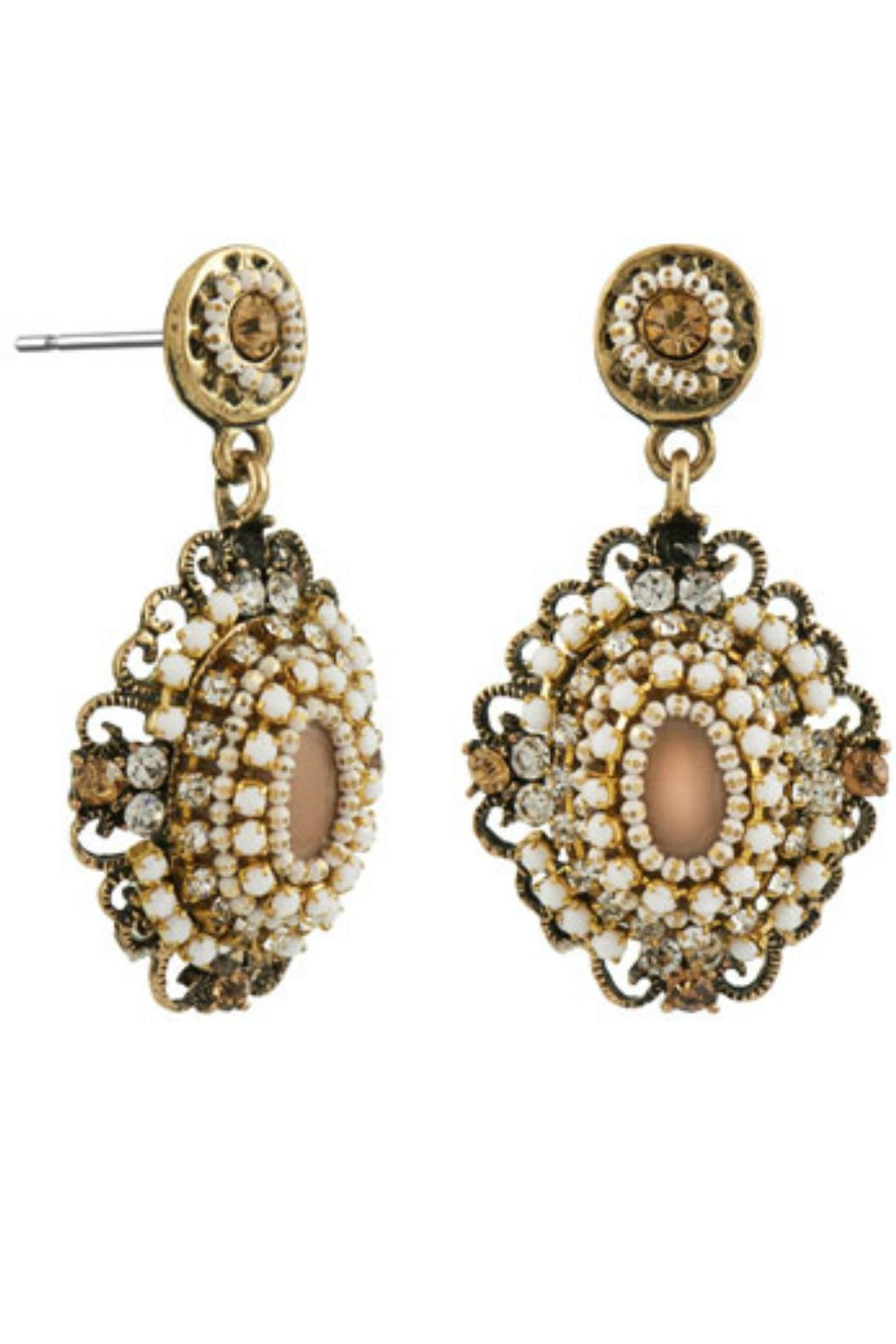 Coco + Carmen Crystal Burst Earings - Front Cropped Image