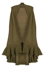 Coco + Carmen Fable Ruffle Vest - Front cropped