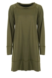 Coco + Carmen Frency Terry Tunic Dress - Front cropped