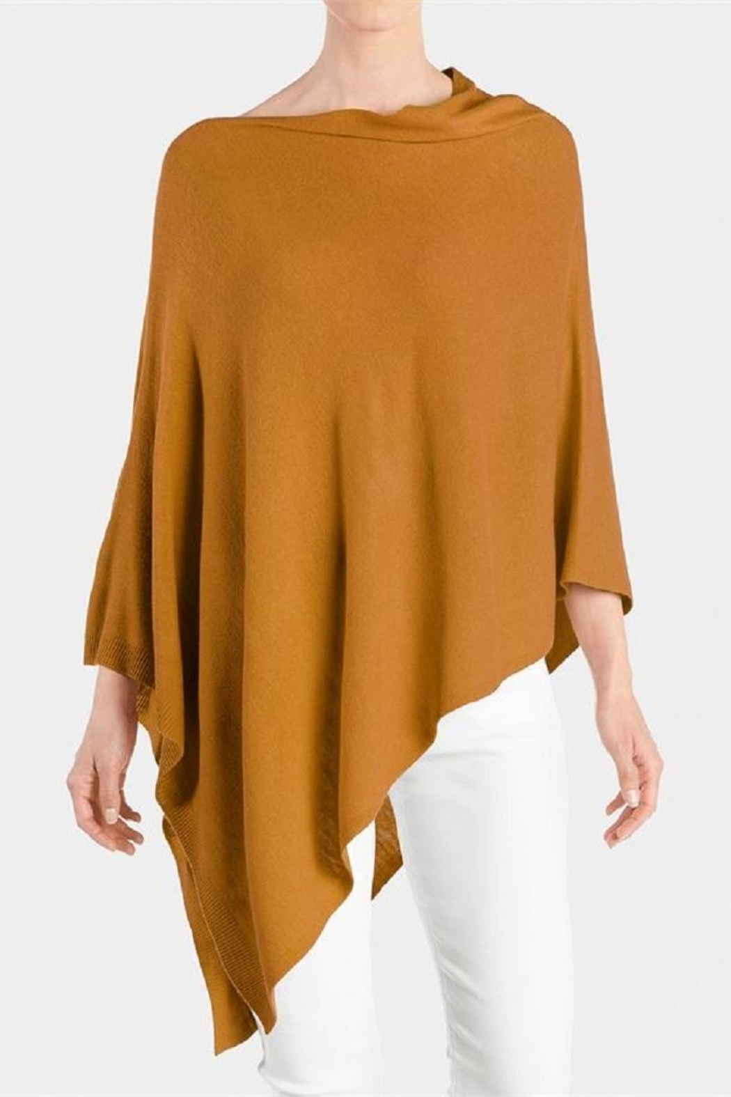 Coco + Carmen Lightweight Poncho - Front Cropped Image