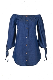 Coco + Carmen Meadow Denim Tunic - Front cropped