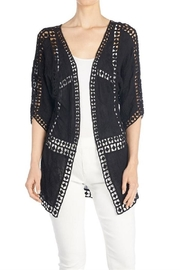 Coco + Carmen Pieced Crochet Cardigan - Front cropped