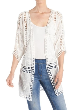 Coco + Carmen Pieced Crochet Cardigan - Product List Image