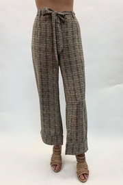 Coco + Carmen Plaid Tie Pants - Product Mini Image
