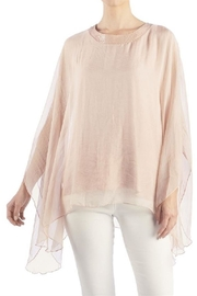 Coco + Carmen Sheer Elegance Crochet Detail Pullover - Front cropped