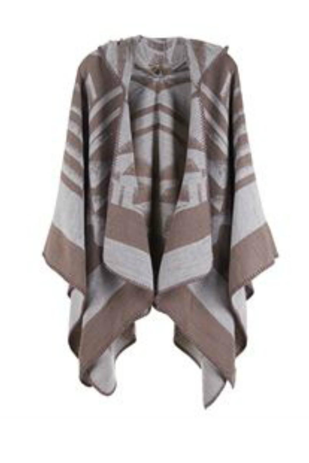 Coco + Carmen Splitrock Hooded Poncho - Front Cropped Image