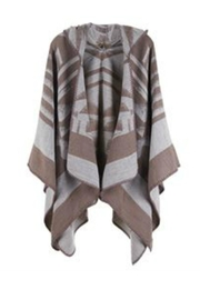 Coco + Carmen Splitrock Hooded Poncho - Front cropped
