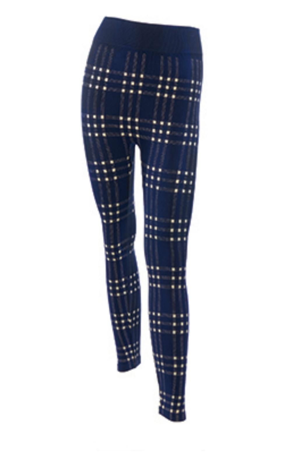 Coco + Carmen Stretch Leggings - Front Cropped Image