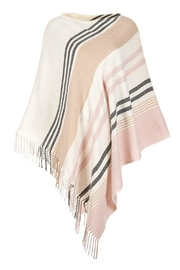 Coco + Carmen Striped Poncho - Front cropped