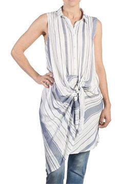 Shoptiques Product: Tie-Front Sleeveless Top
