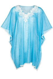 Coco + Carmen Turquoise Cover- Up - Product Mini Image