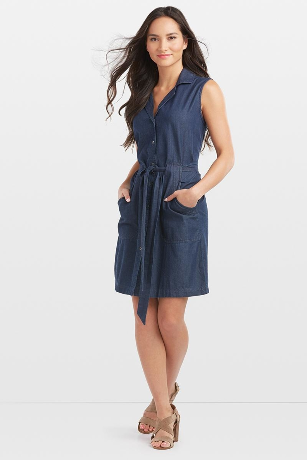 Coco + Carmen Valencia Denim Dress - Main Image