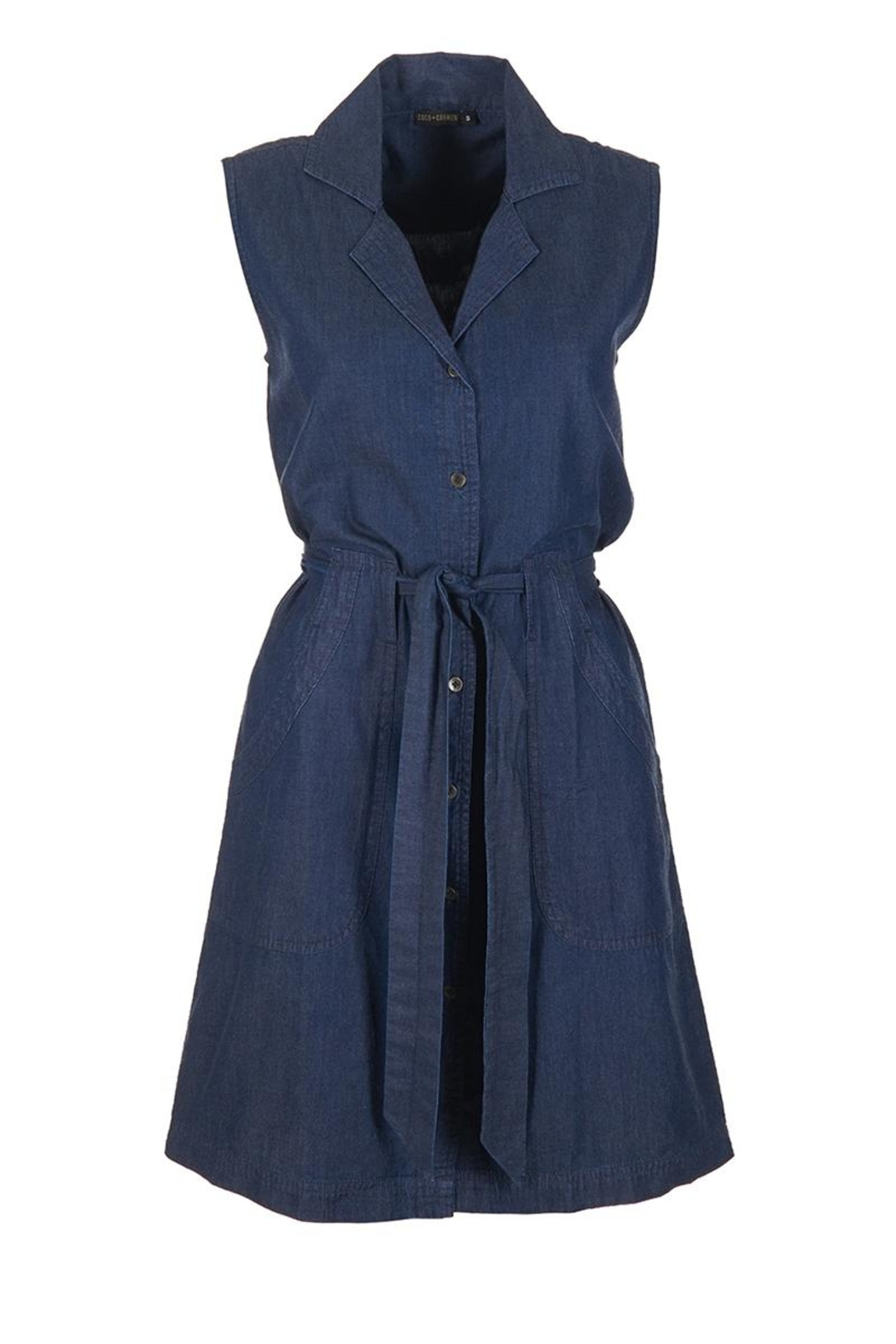 Coco + Carmen Valencia Denim Dress - Front Full Image