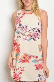 Coco Avante Cream Floral Dress - Product Mini Image