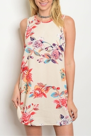 Coco Avante Cream Floral Shift Dress - Product Mini Image