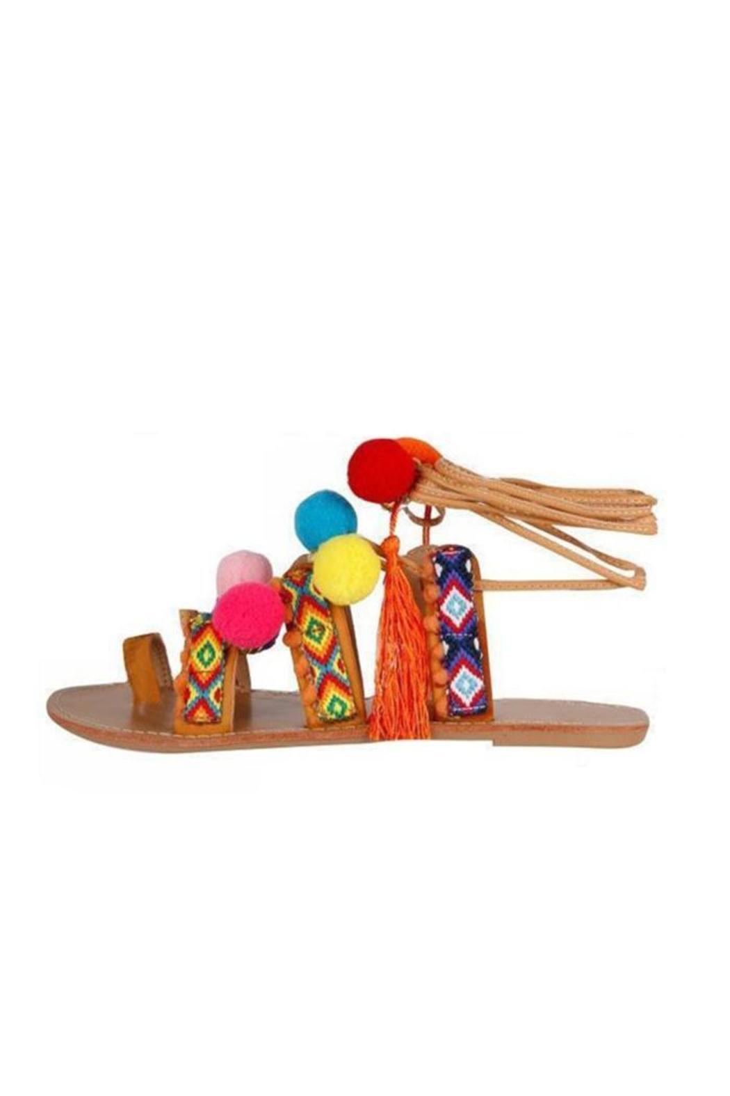 Coco Perla Pompom Ibiza Sandals From Netherlands By Viva