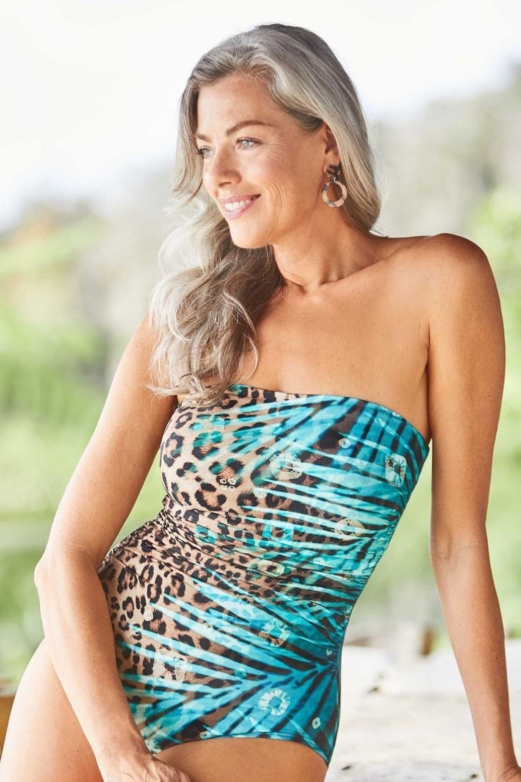 CoCo Reef Swimwear Jaguar Bandeau One-Piece - Main Image