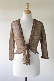 Scarborough Fair Cocoa Ruffle Cardigan - Product Mini Image