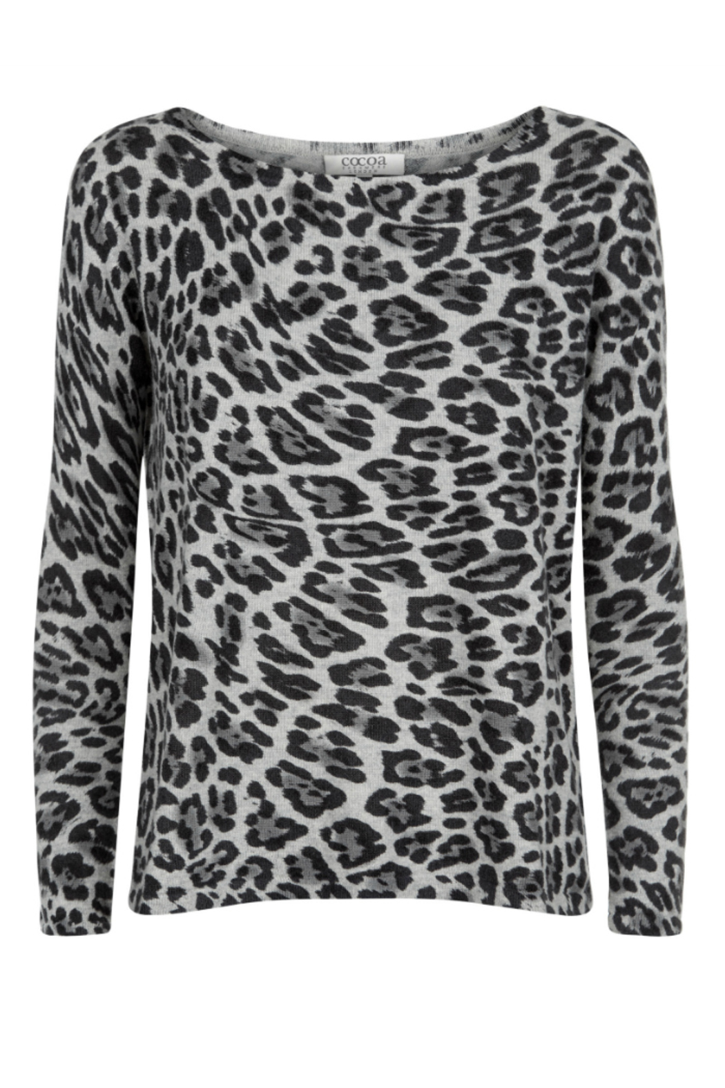 Cocoa Cashmere Animal Print Cashmere Sweater from South East ...