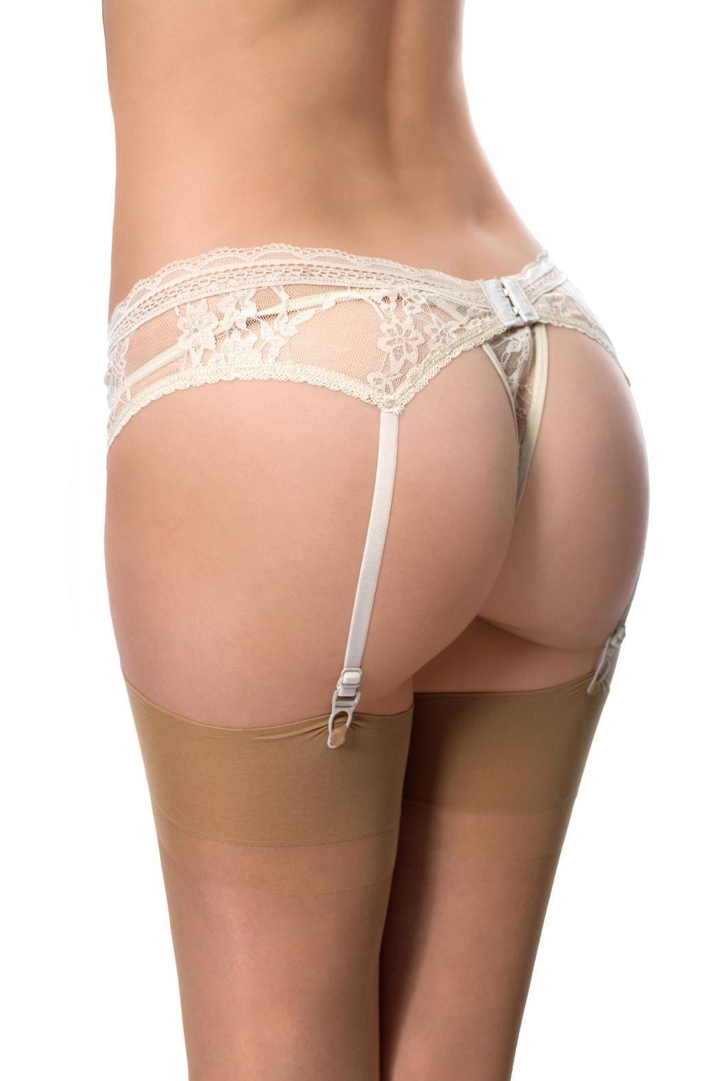 Cocoa Lingerie Lace Thong Set - Back Cropped Image