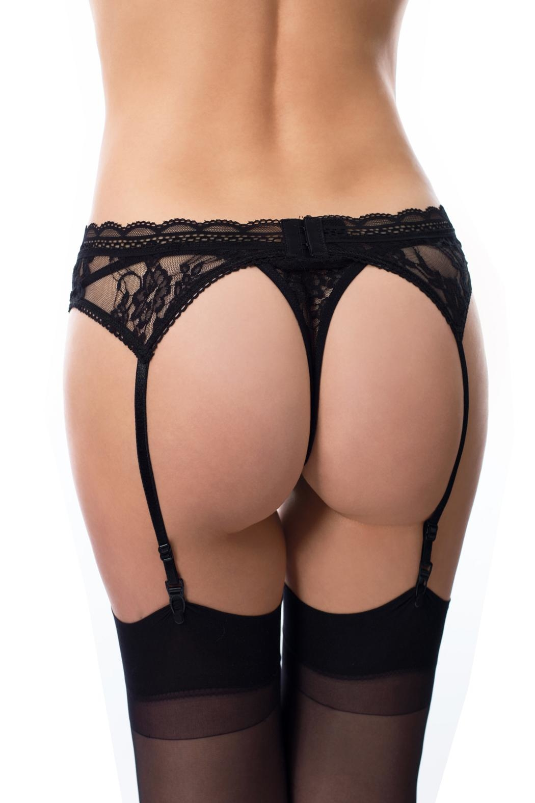 Cocoa Lingerie Lace Thong Set - Front Full Image