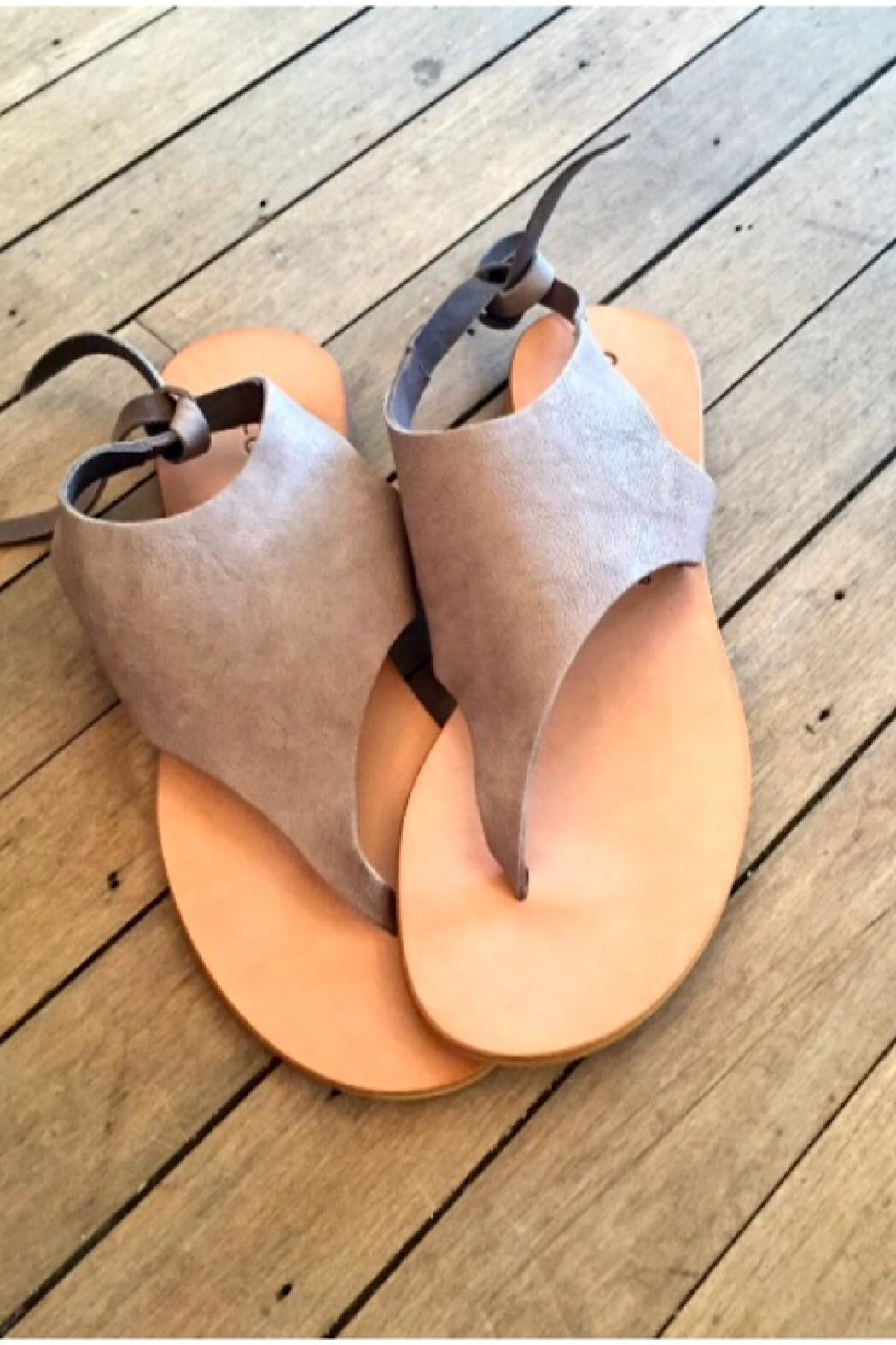 CocoBelle Tye Thong Sandals - Front Full Image