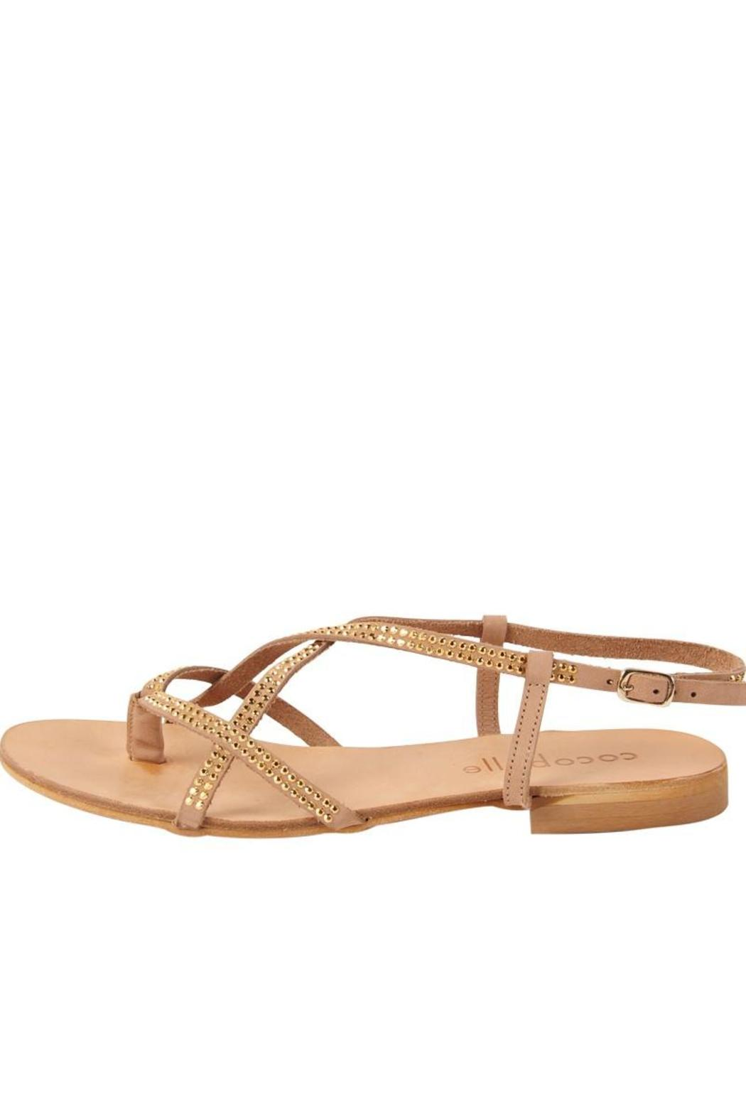Cocobelle Vera Studded Gold Sandals From Hudson Valley By