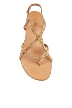 Shoptiques Product: Vera Studded-Gold Sandals