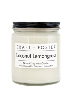 Craft and Foster Coconut Lemongrass Candle - Alternate List Image