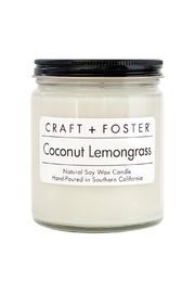 Craft and Foster Coconut Lemongrass Candle - Product Mini Image