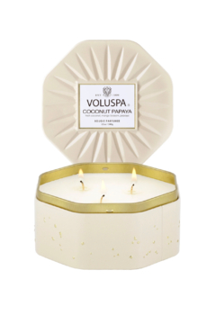 Voluspa Coconut Papaya Octagon Tin Candle - Product List Image