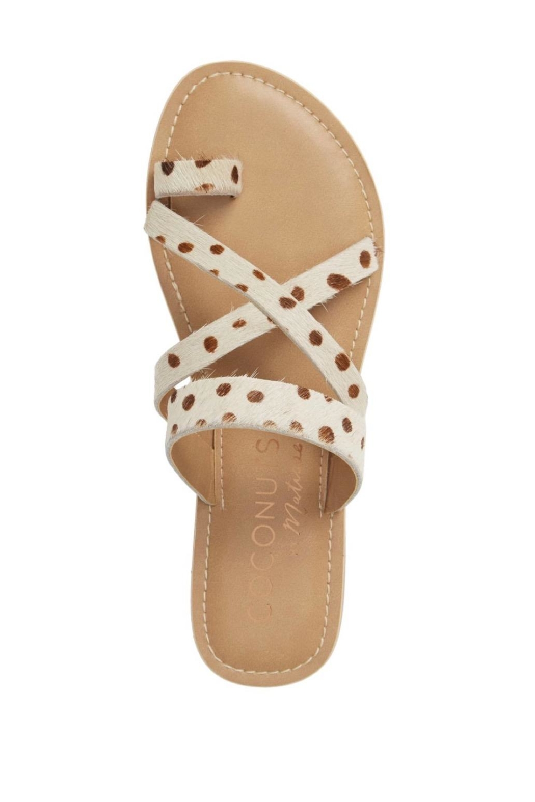 Coconuts by Matisse Cow Strapped Sandals - Front Full Image