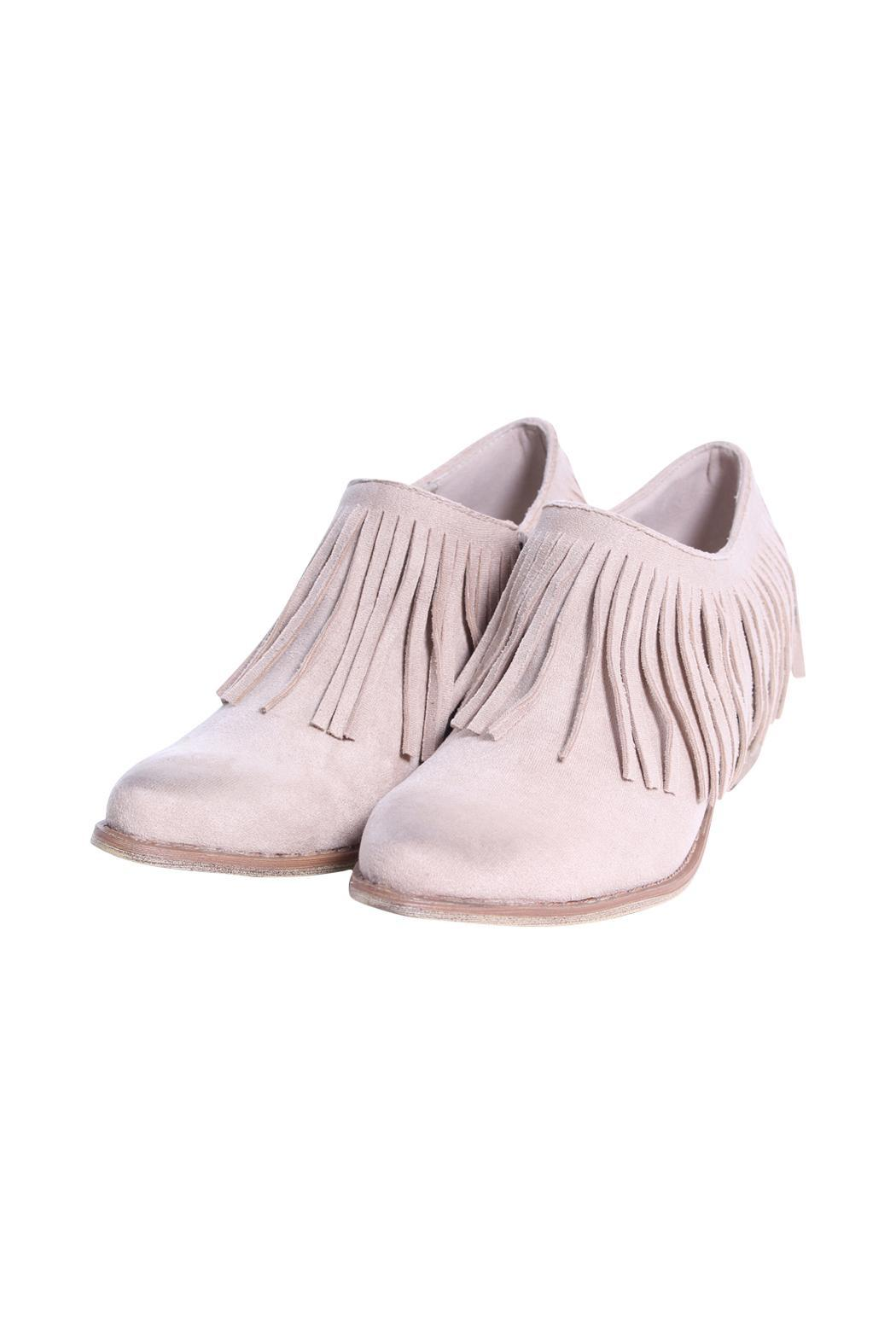 Coconuts by Matisse Fringe Shoe Bootie - Back Cropped Image