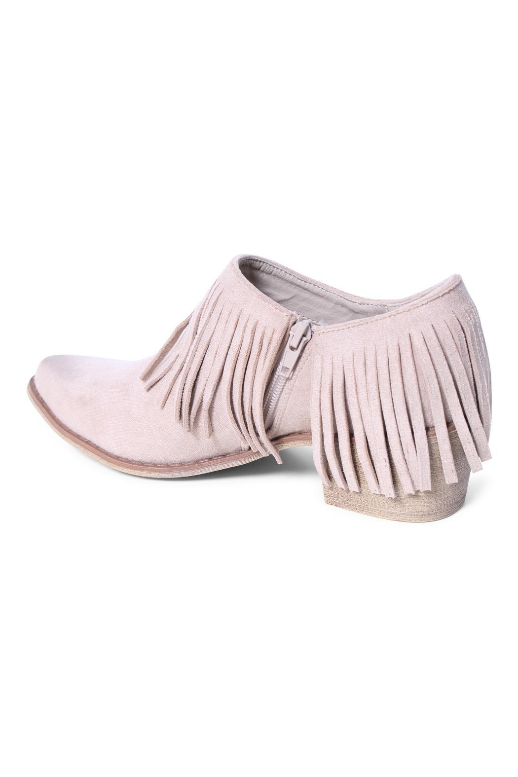 Coconuts by Matisse Fringe Shoe Bootie - Side Cropped Image