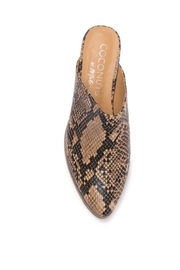 Coconuts by Matisse Leather Snake Slide - Front cropped