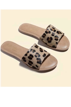 Coconuts by Matisse Leopard Leather Sandal - Product List Image