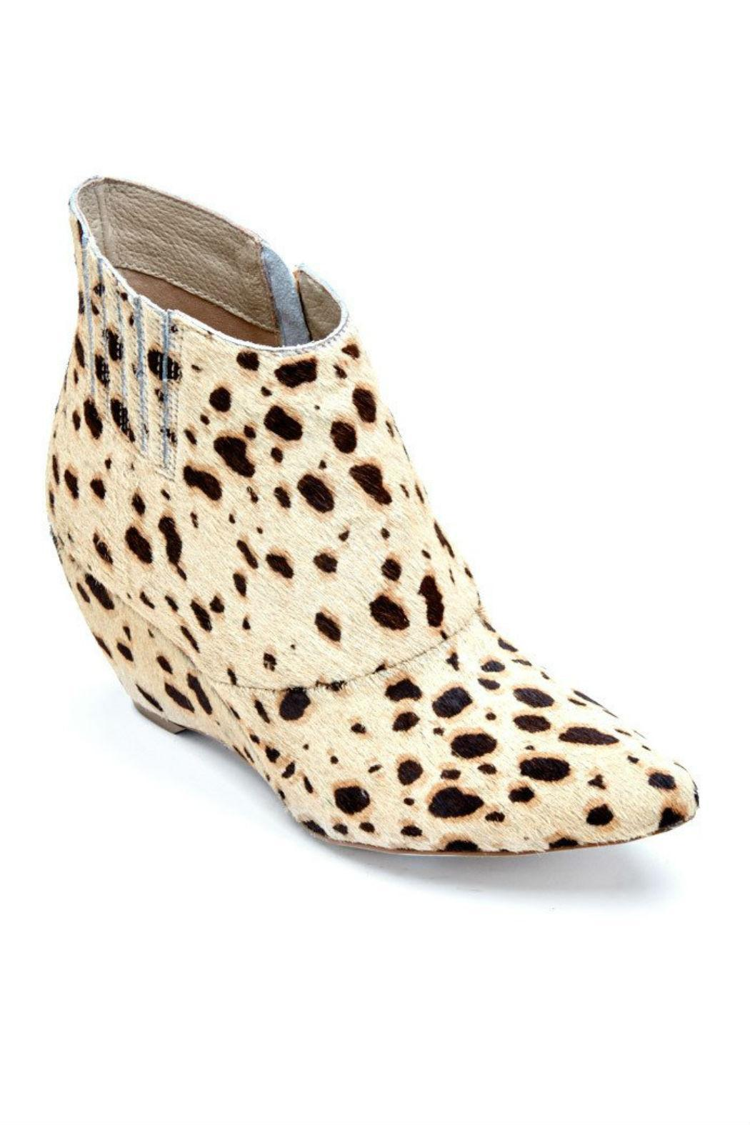 Coconuts by Matisse Ponyhair Wedge Bootie - Front Full Image