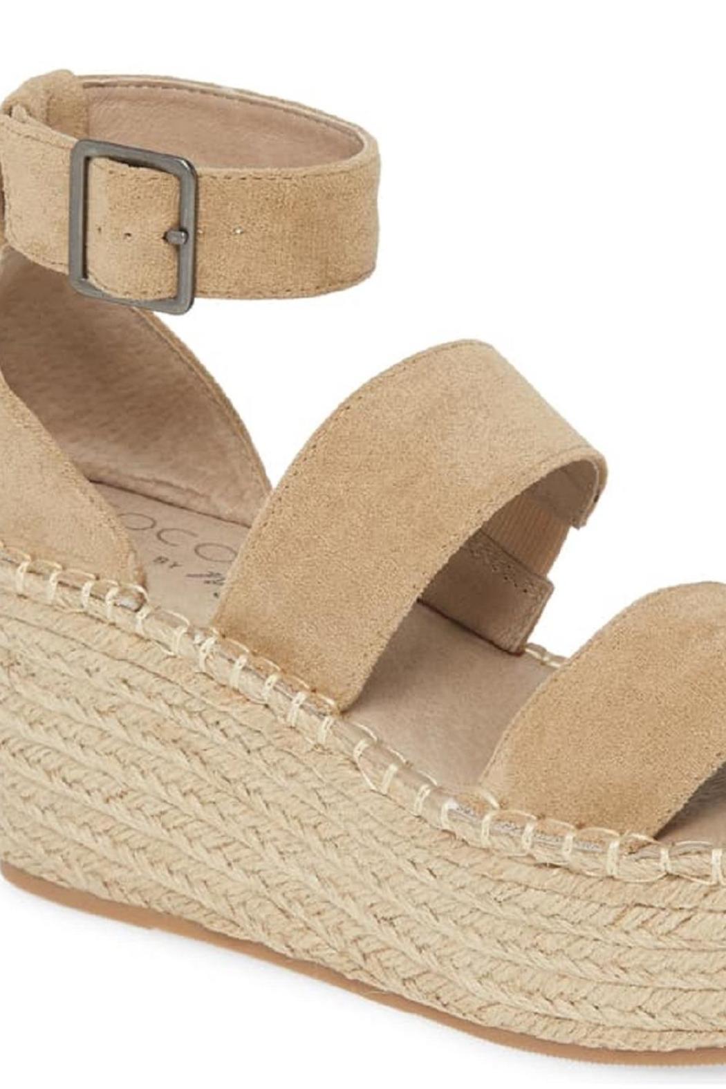 Coconuts by Matisse Soire Natural Wedge - Back Cropped Image