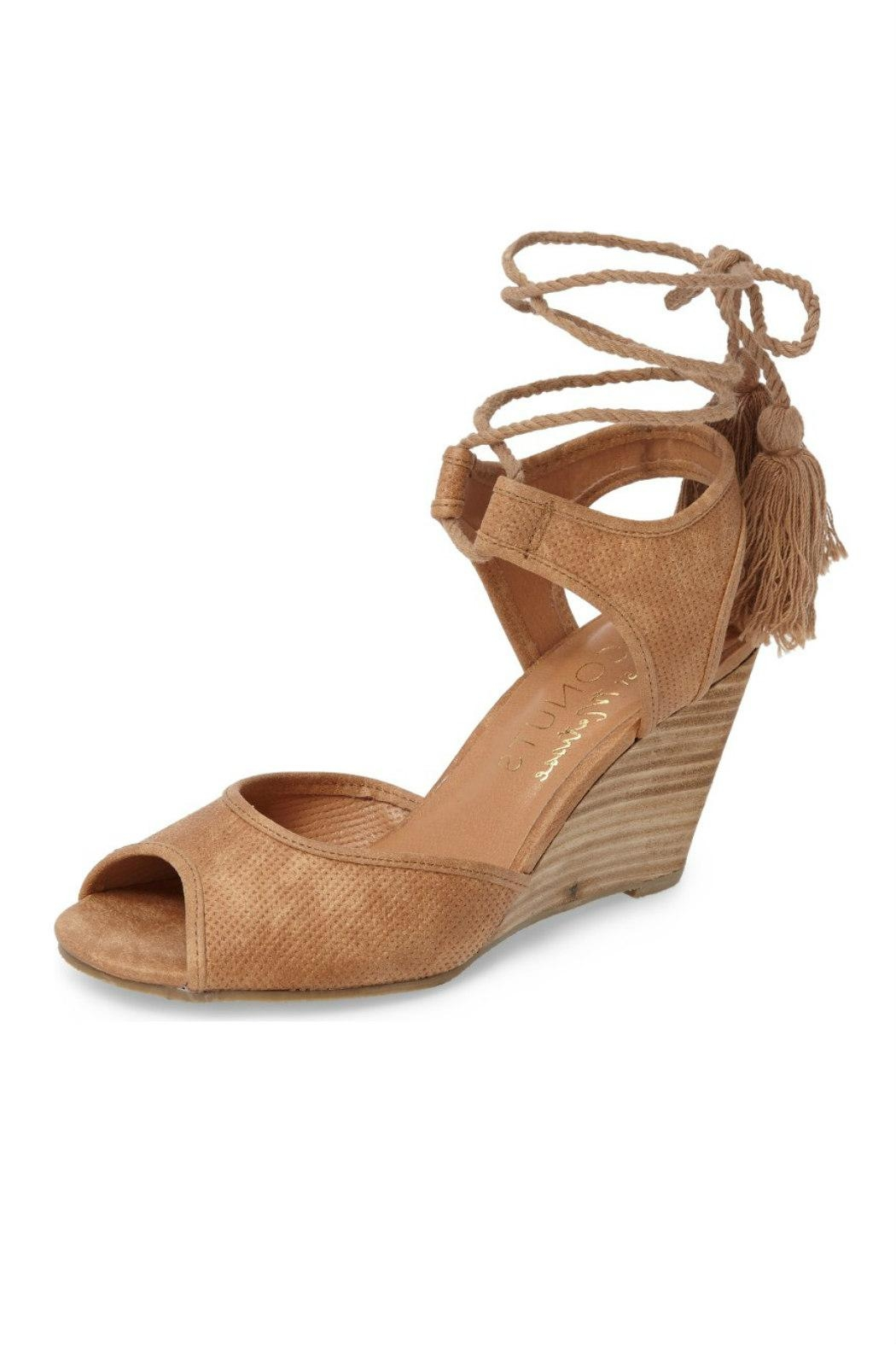 Coconuts by Matisse Unify Wrap Wedge Sandal - Front Cropped Image