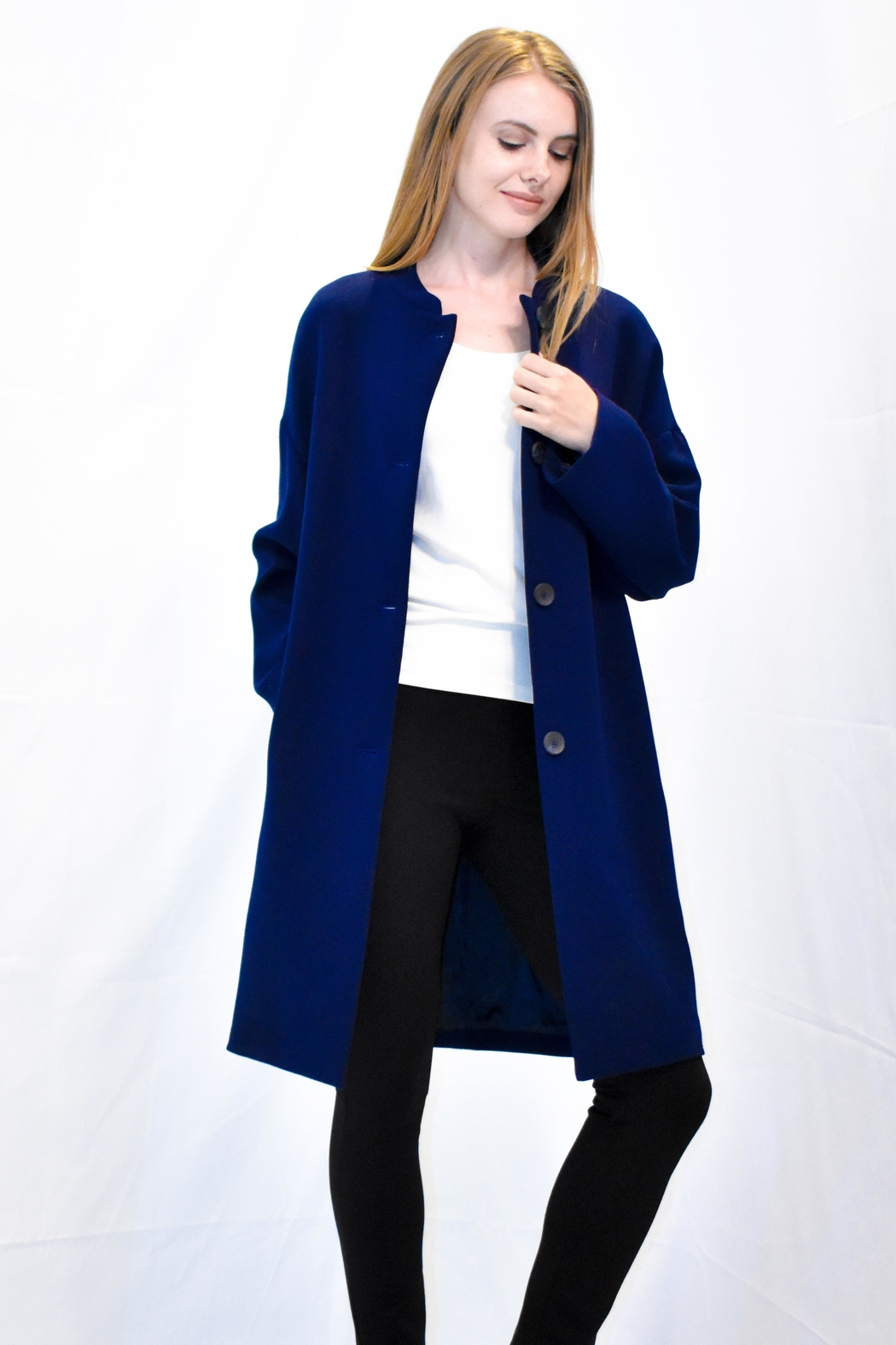 Rossopuro Cocoon Coat - Front Cropped Image