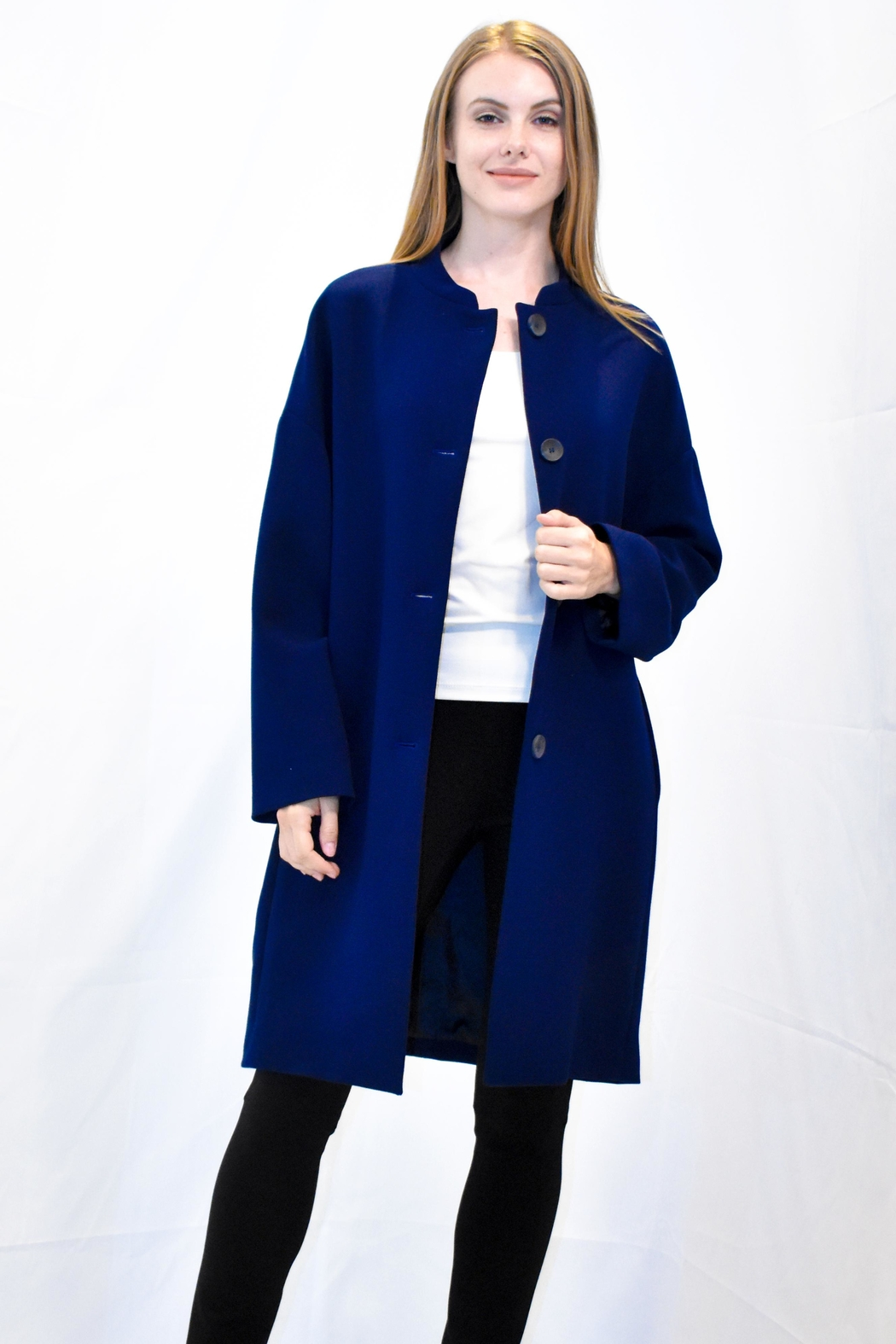 Rossopuro Cocoon Coat - Front Full Image