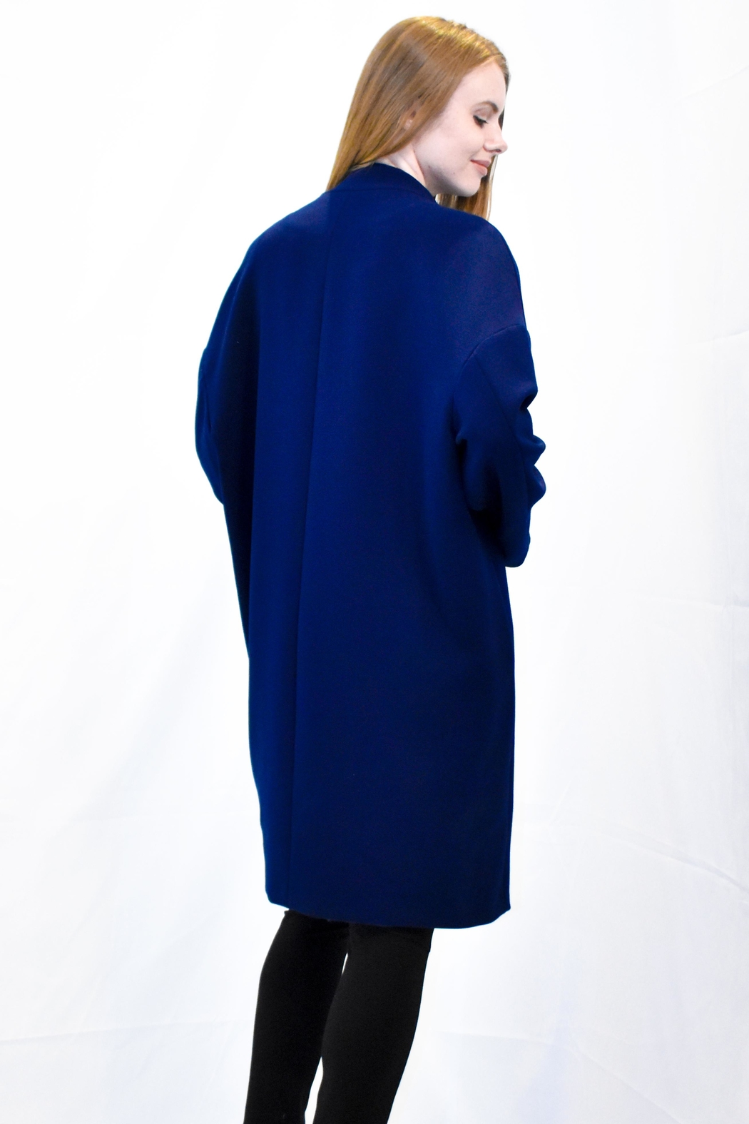 Rossopuro Cocoon Coat - Side Cropped Image